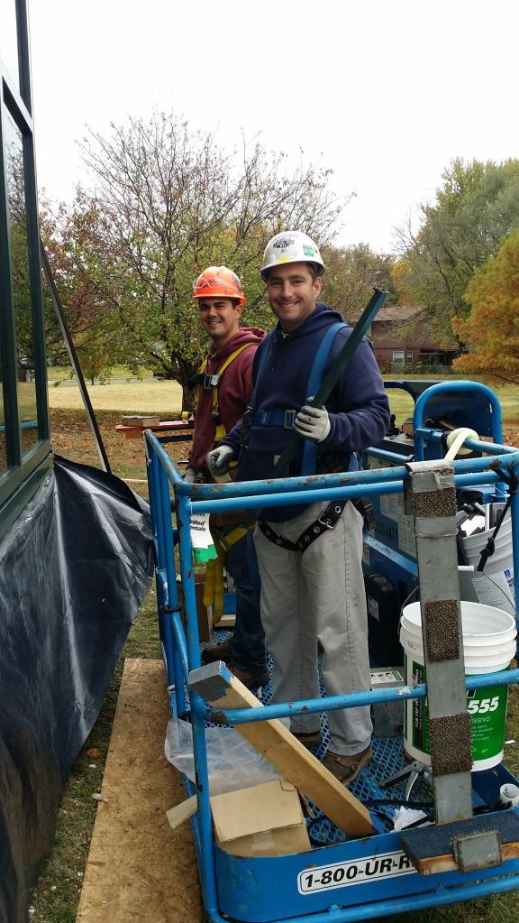 John Raftery and Matt Nguyen from Acme Glass