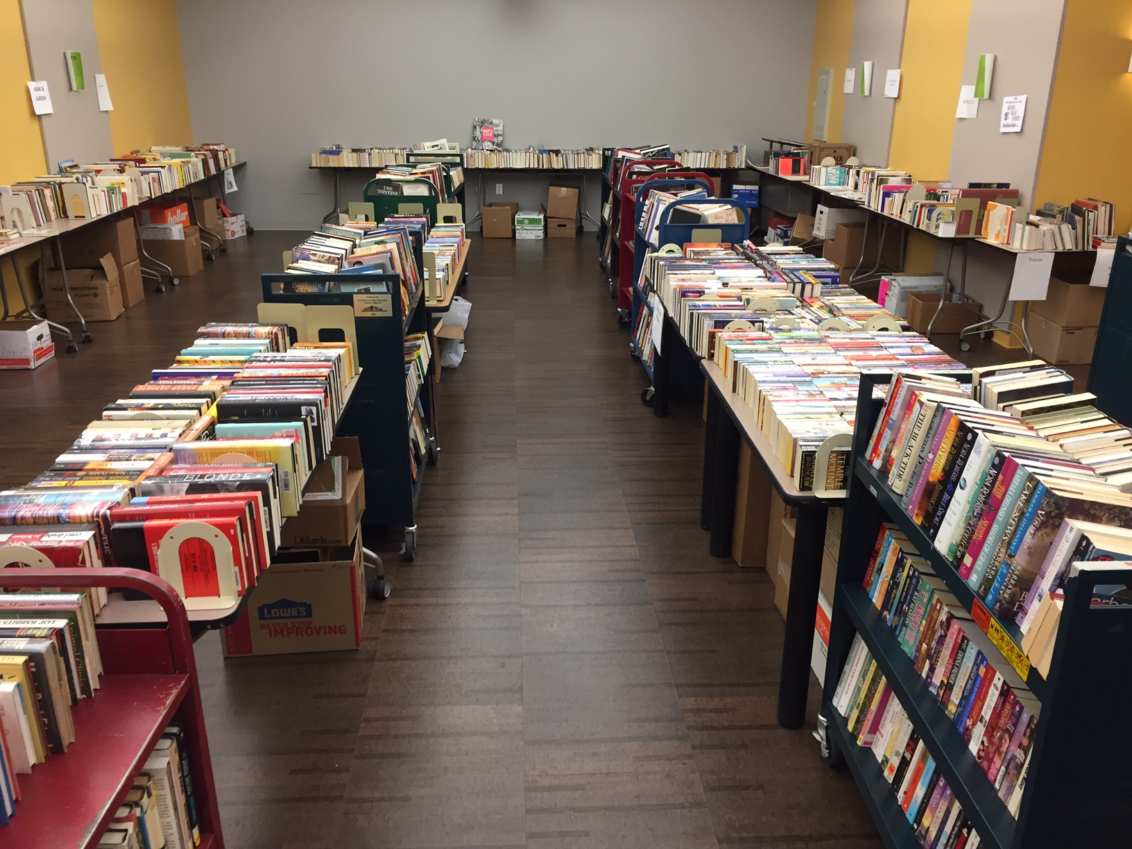 Book sale main aisle
