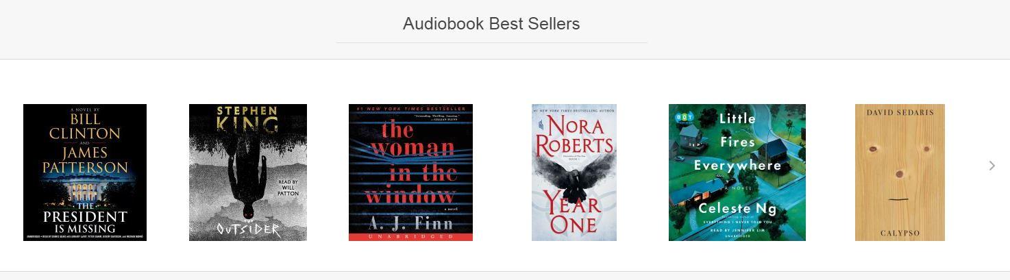 audio bestsellers